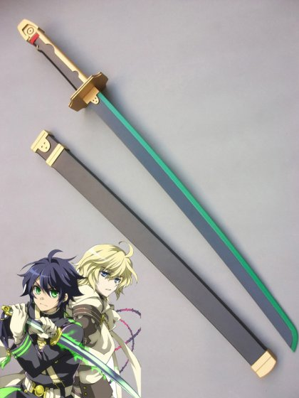 Seraph of the End Yuichiro Hyakuya Cosplay Wood Sword