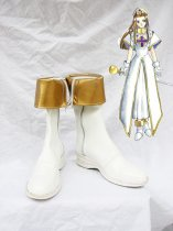Tales of Phantasia Mint Adenade White & Golden Cosplay Boots